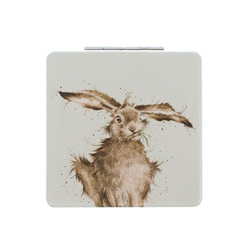 Wrendale 'Hare-Brained' compact mirror