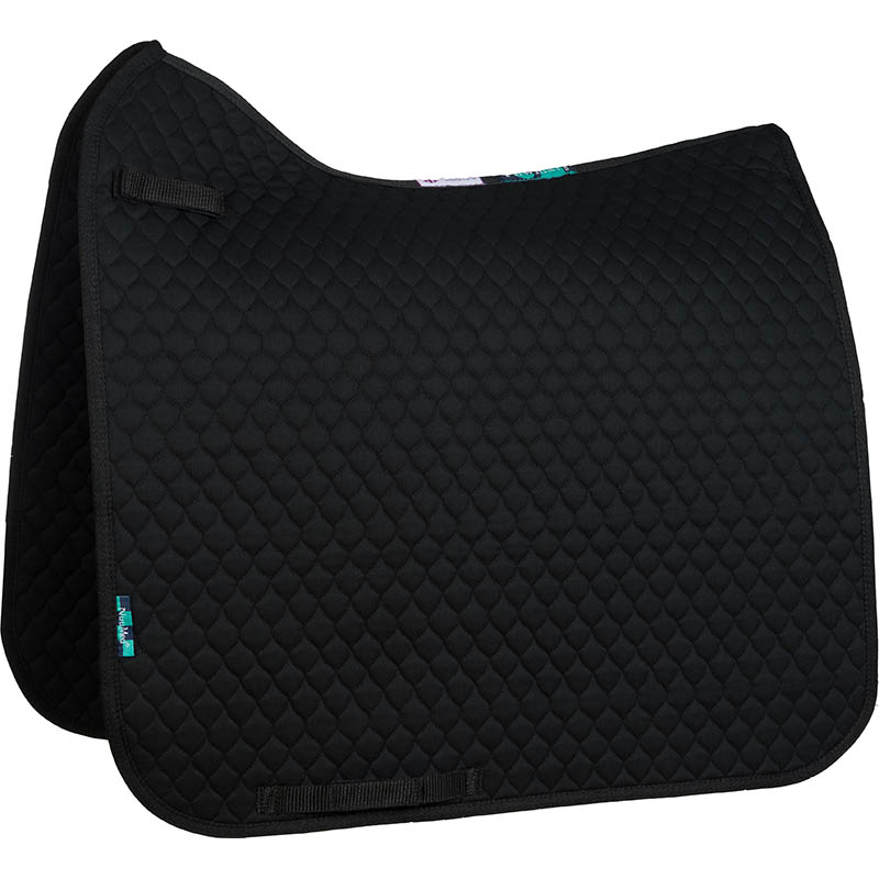 NuuMed HiWither Quilt Saddlepad Dressage Black Small