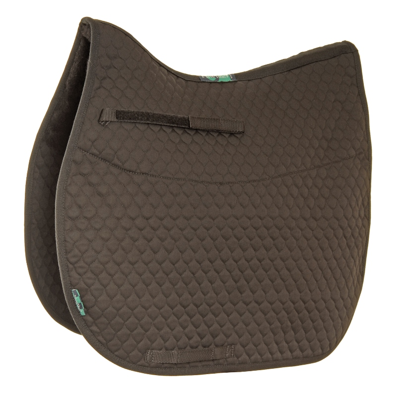 NuuMed HiWither Half Wool Saddlepad Brown XL