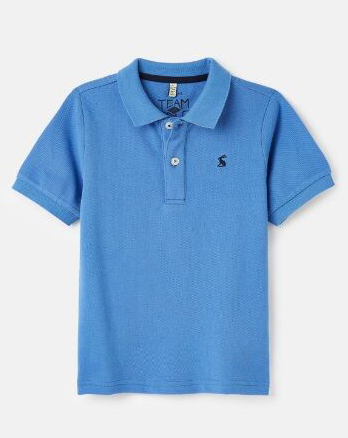 Joules boys Woody Polo Shirt Blue