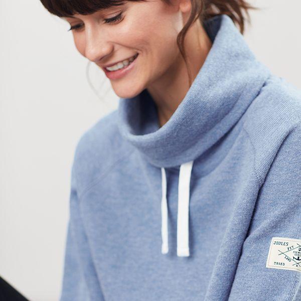 Joules Nadia Ribbed Sweatshirt – Blue Marl