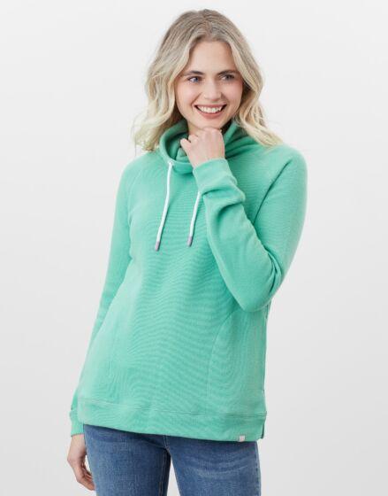 Joules Nadia Ribbed Sweatshirt – Fresh Green