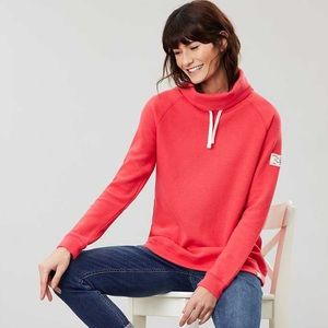 Joules Nadia Ribbed Sweatshirt – Poppy
