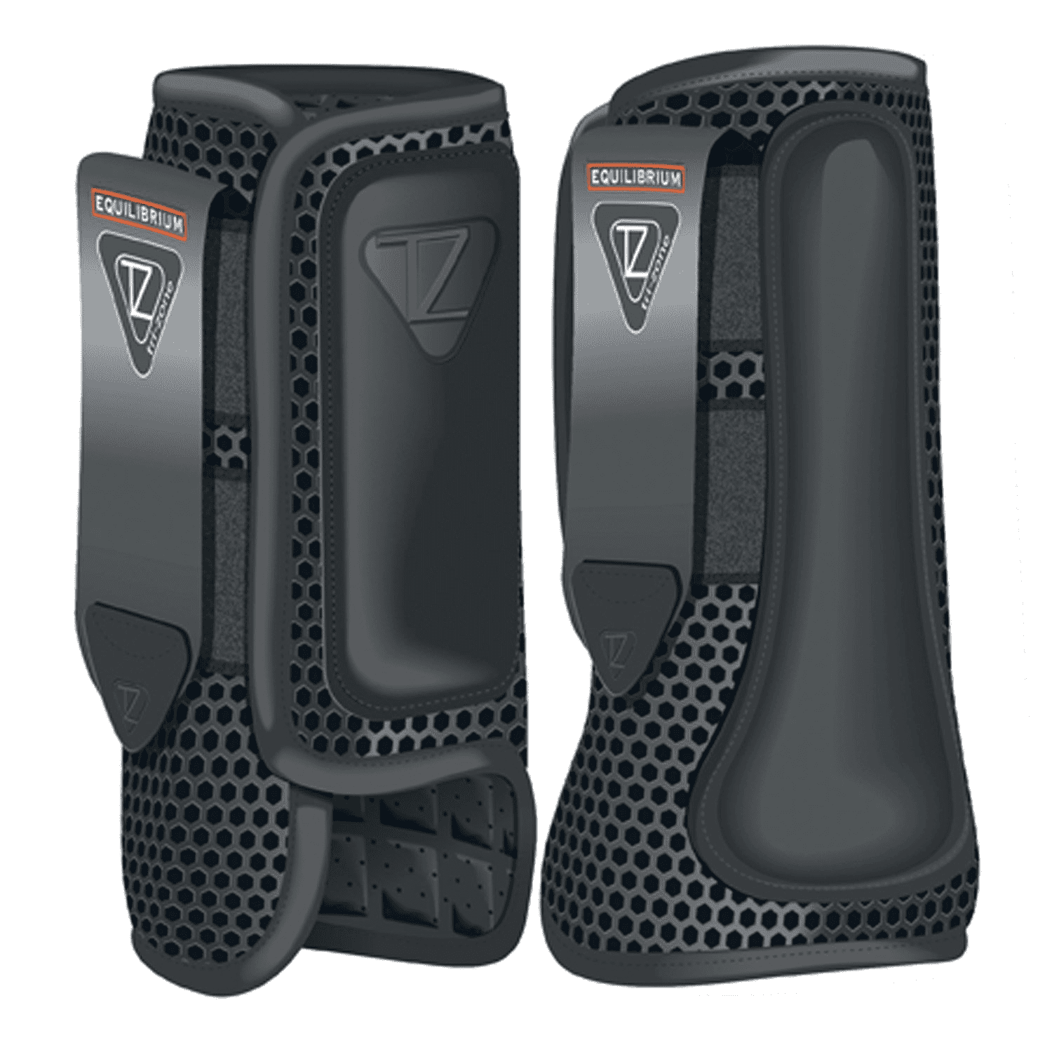 Tri-Zone Impact Sports Boots Fronts Black